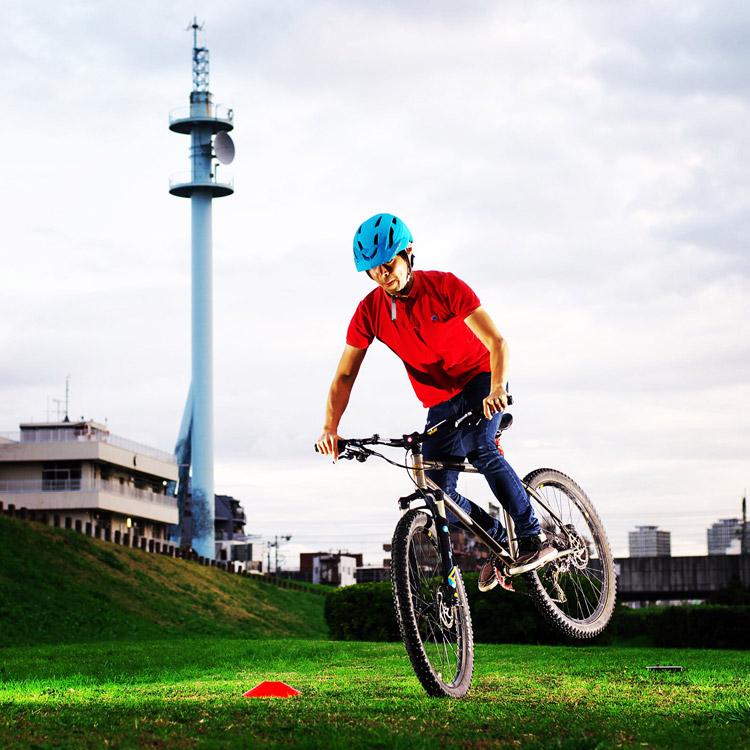 MTB マウンテンバイク YAMADORI 2nd 26 多摩川サイクリングロード ノーズマニュアルターン ノーズマニュアルターン
