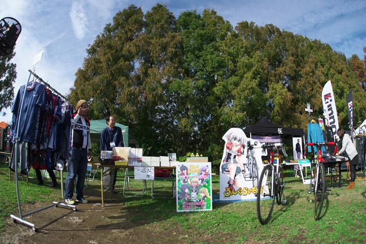秋ヶ瀬のバイクロア5に出展していた一迅社のブース