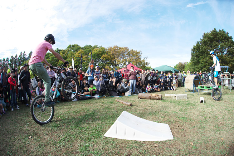 秋ヶ瀬のバイクロア5のMTB&トライアルショー