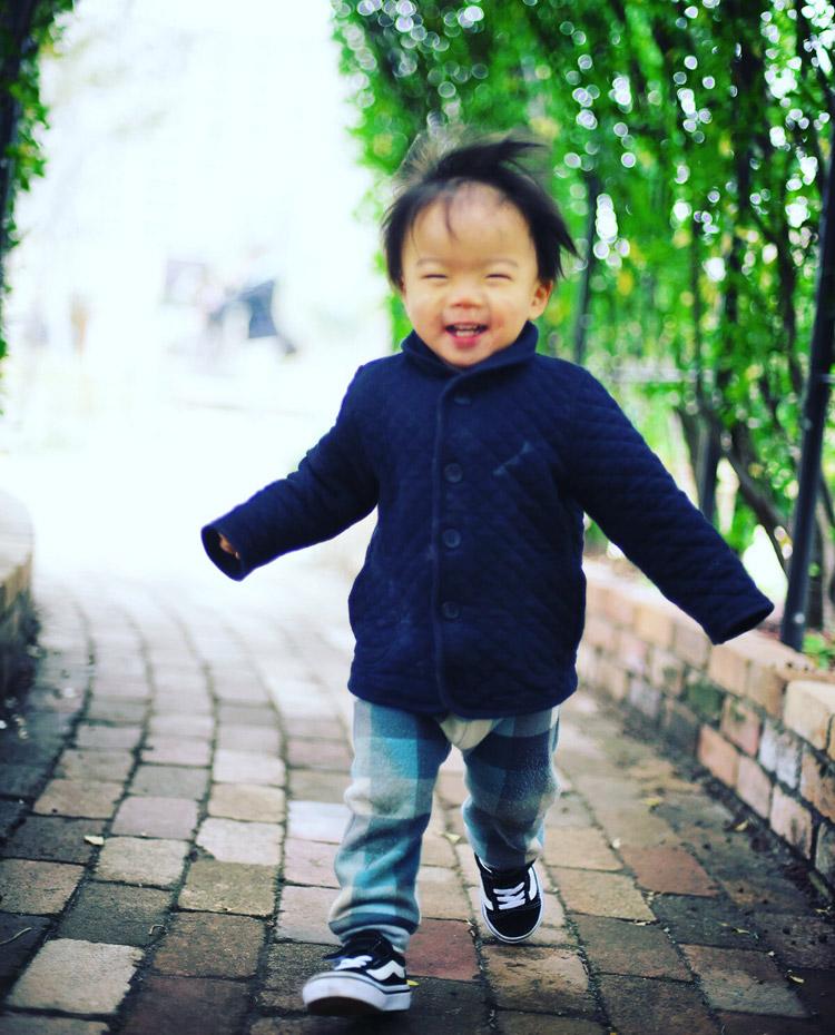 武蔵小杉グランツリー屋上で走り回る叶大