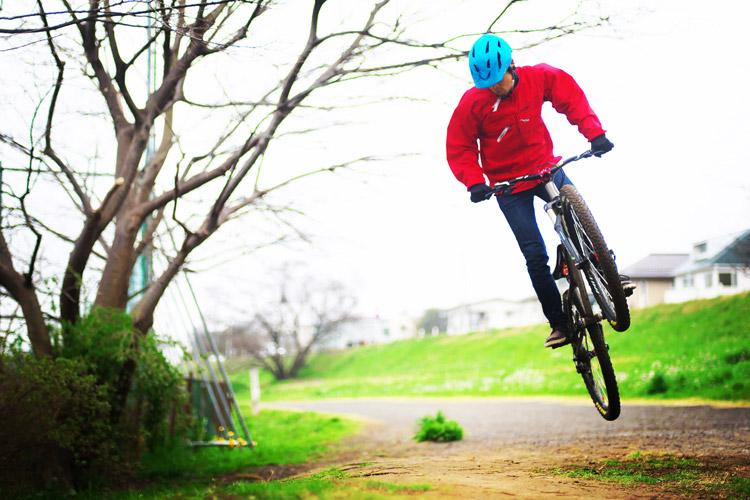 croMOZU275 2nd TEST多摩川河原サイクリングコース バニーホップ180
