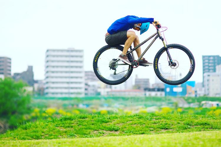 croMOZU275 2nd TEST多摩川河原サイクリングコース ヒップバニーホップ