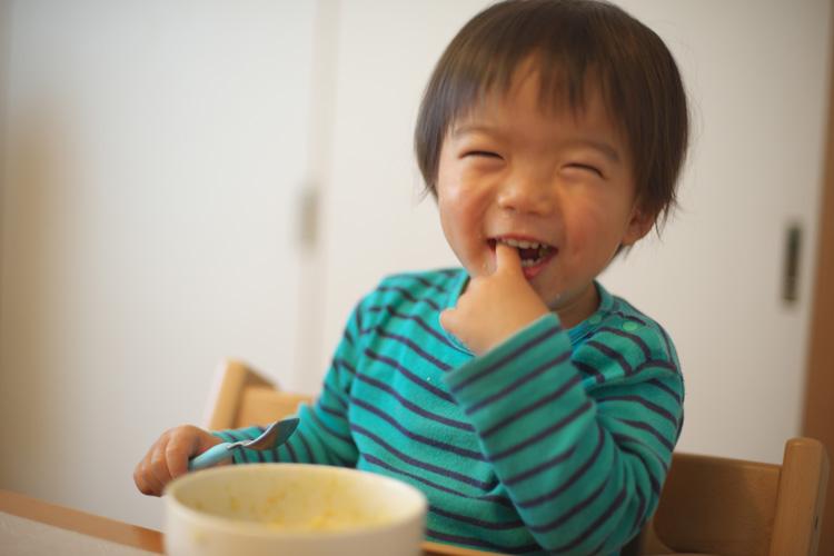 素手でご飯を食べる癖が直らない叶大