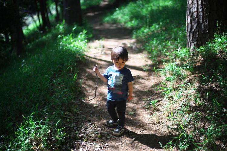 多摩川台公園を散策する叶大