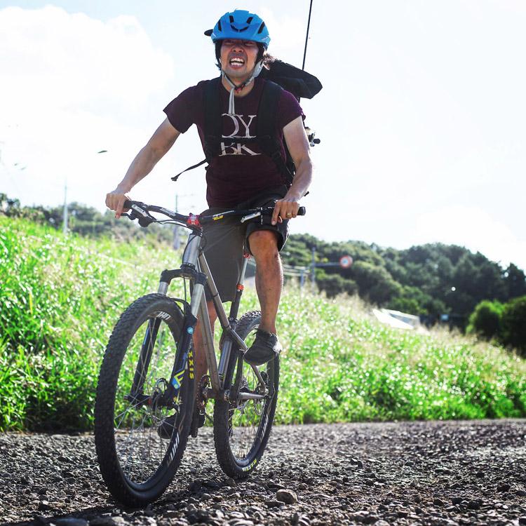 croMOZU275 3rd TEST多摩川河原サイクリングコース ダートを激走