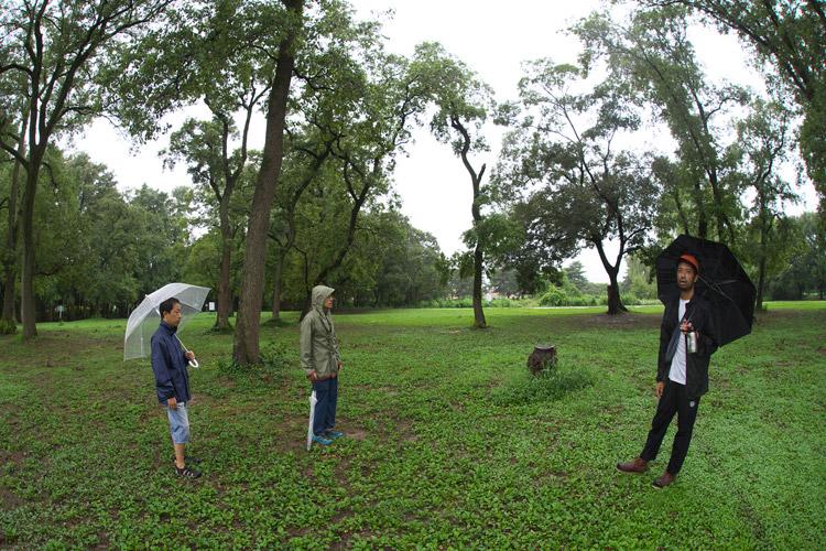 秋ヶ瀬の森公園にバイクロアのコース作成