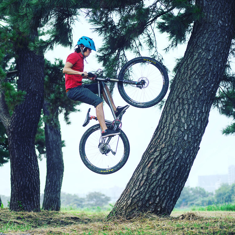 croMOZU275 3rd TEST多摩川河原サイクリングコース ツリーライド