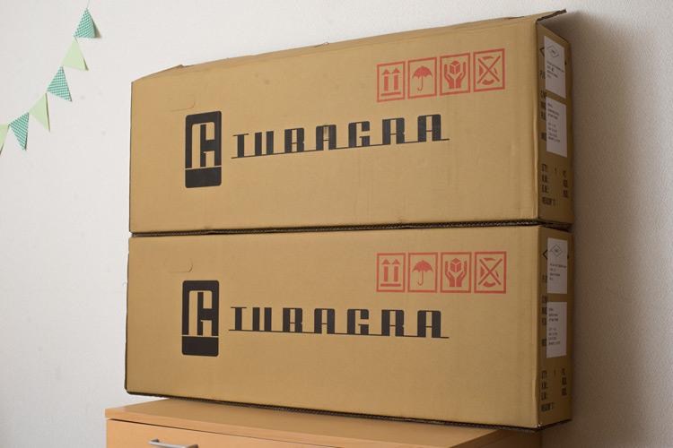 台湾から届いたakaMOZUの箱2つ