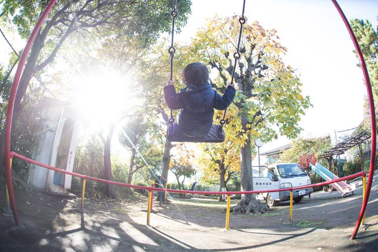 公園で遊ぶ叶大