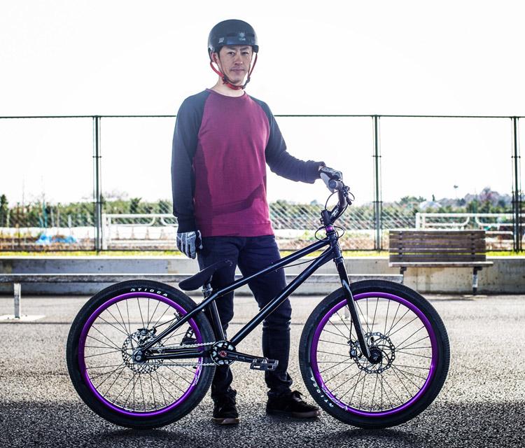 Mamboさんと特注SHAKA 24 トライアルバイク