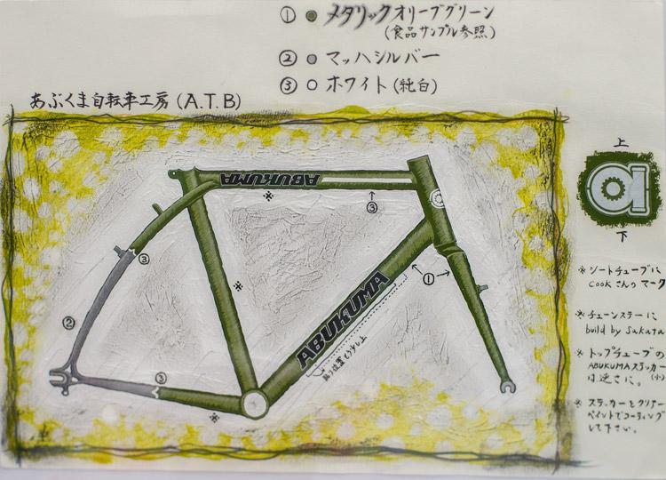 2017ハンドメイドバイシクル展に展示されているあぶくま自転車工房のアドベンチャーバイク