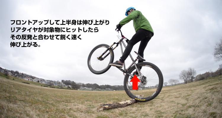 croMOZU275 3rd TEST多摩川河原サイクリングコース 丸太当て斜め刺しバニーホップ