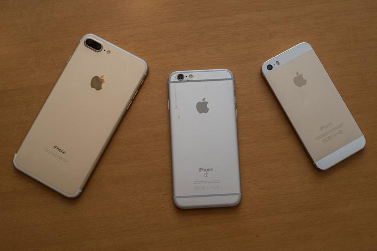 機種変したiPhone7 Plus ゴールド