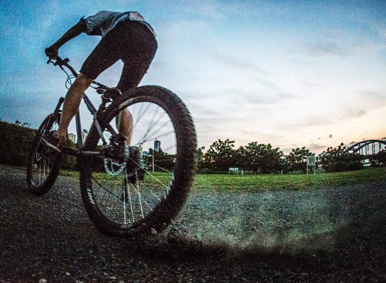 croMOZU275 3rd TEST多摩川河原サイクリングコース カッティーズ練習