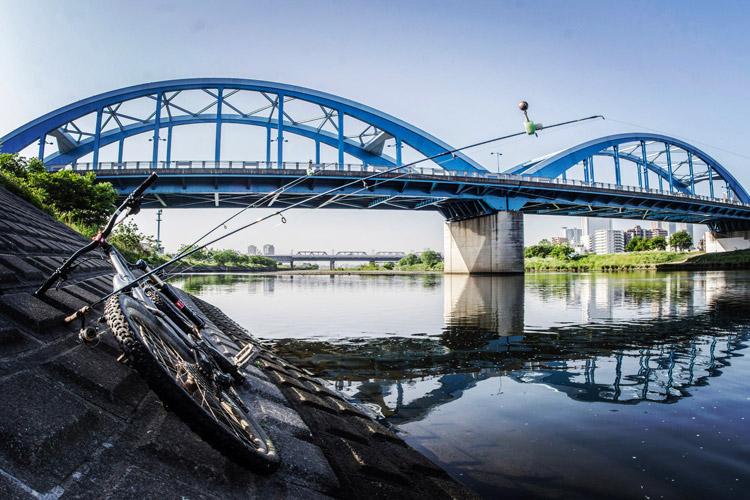 朝活BIKE&FISH 多摩川丸子橋で
