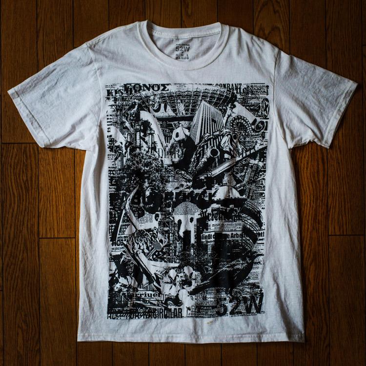 52w-newspaper プリントTシャツ