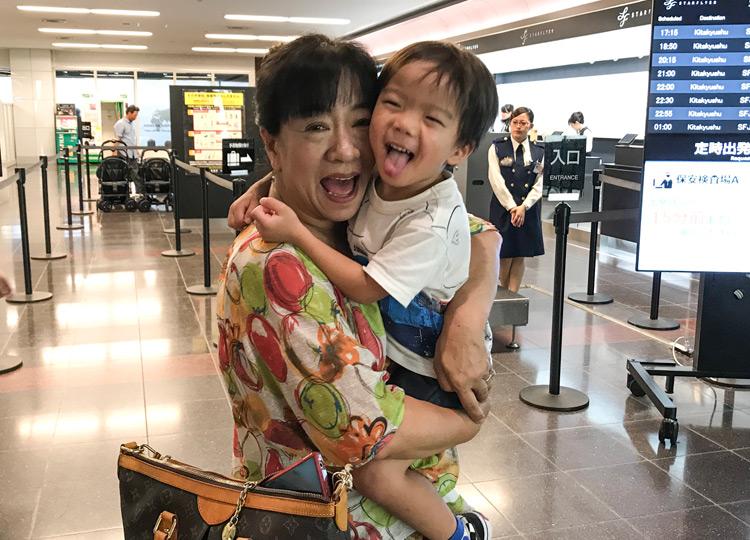 叶大と北九州から遊びに来てくれていた奥さんのお母様を羽田空港に見送りに