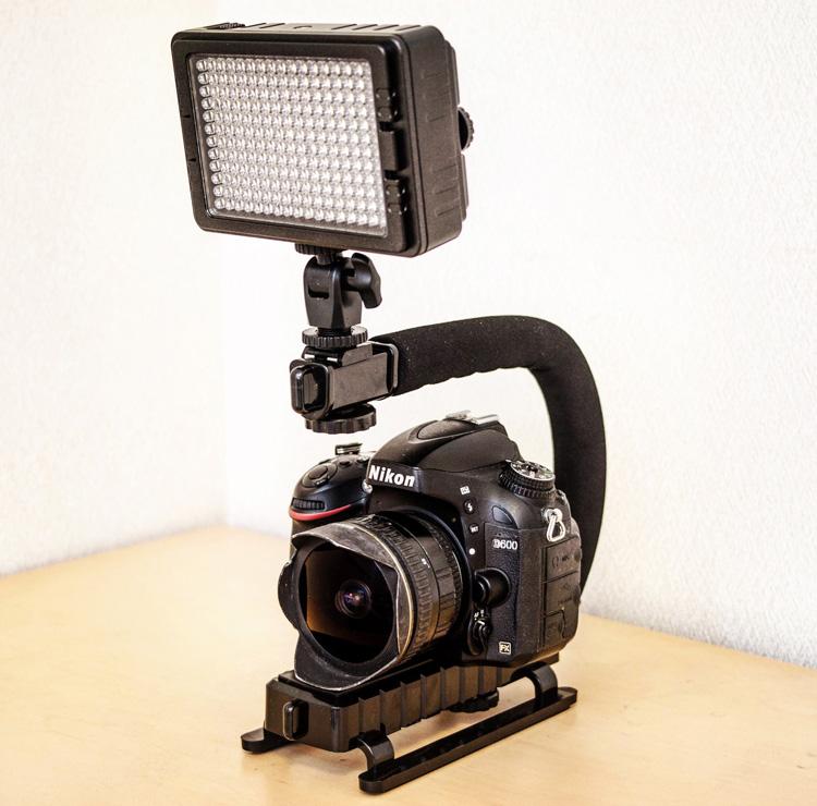 R-STYLE スタビライザーハンドル UTEBIT LEDビデオライト Nikon D600