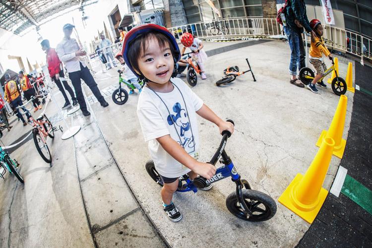 サイクルモード2017 ランバイクを試乗する叶大