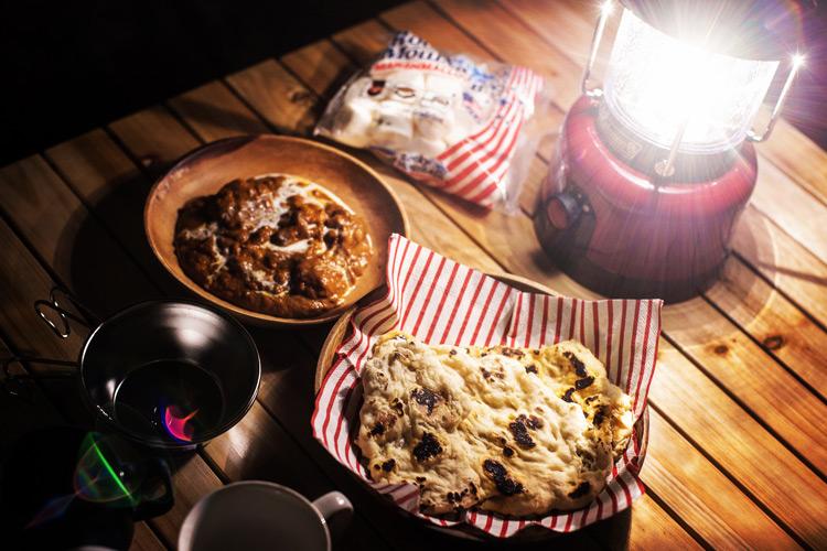 城南島海浜公園でオートキャンプ 夕飯はバターチキンカレーとナン