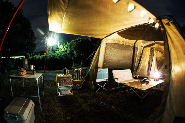城南島海浜公園でオートキャンプ