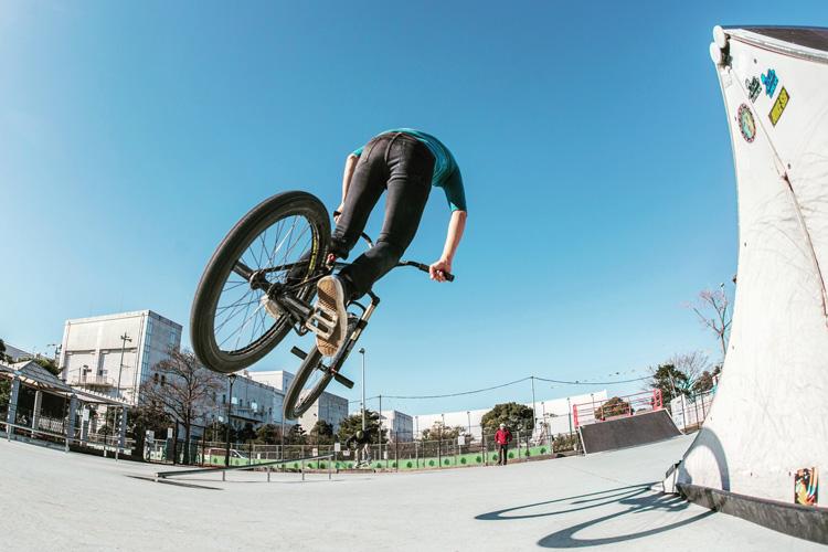 城南島スケートパーク SHAKA24 スパイン飛び出し180