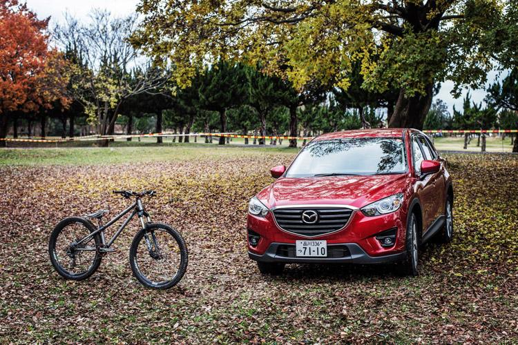 秋ヶ瀬の森バイクロア7 秋ヶ瀬公園とcroMOZU275 MAZDA CX-5