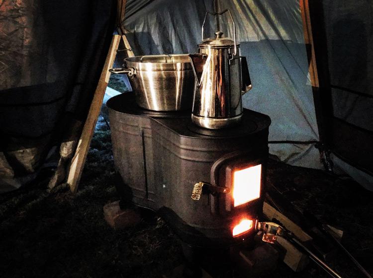 森のまきばオートキャンプ場 薪ストーブ