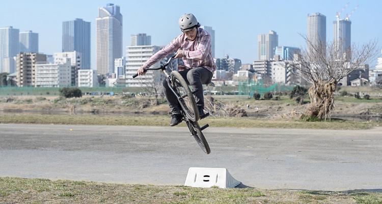 多摩川河原 松平さん テーブルトップ インバート練習