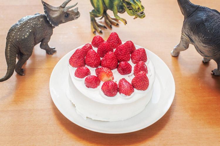 45歳の誕生日 珠魅と叶大が作ってくれたバースデーケーキ