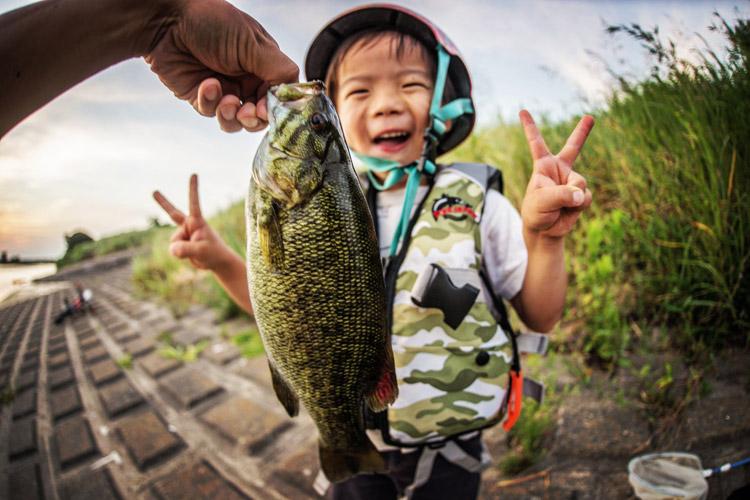 多摩川 BIKE&FISH スモールマウスバスを釣った叶大