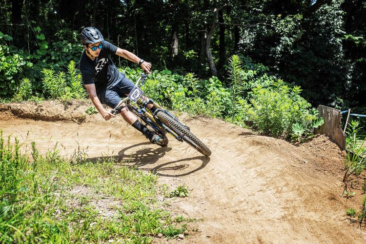 スマイルバイクパーク スラロームコース 九島勇気選手