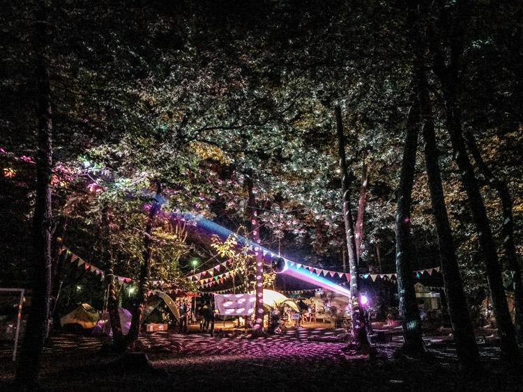 白州の杜べるが NU VILLAGE × べるが a potlatch camp 夜景 ライティング
