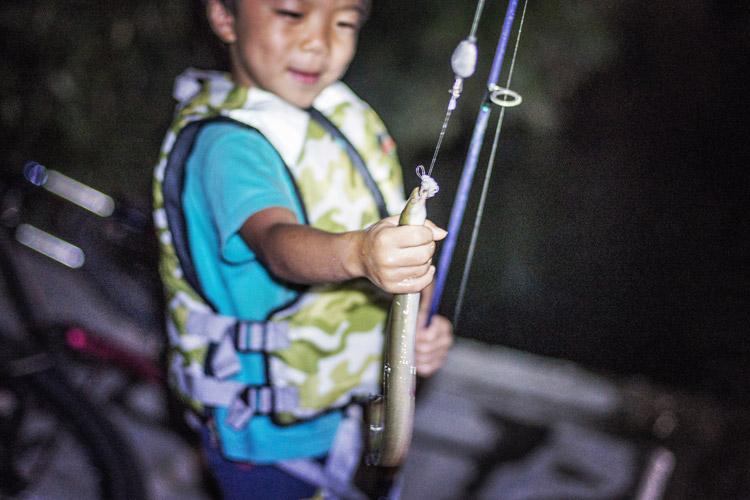 多摩川 BIKE&FISH 叶大がウナギが釣った