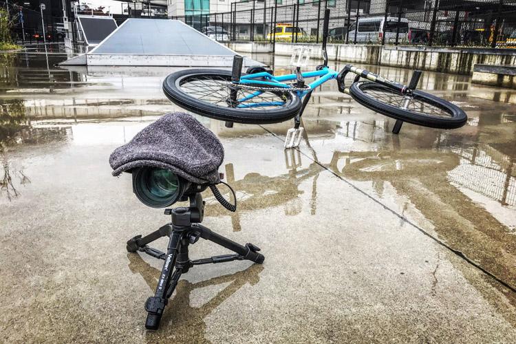 大師河原公園スケートパーク SHAKA24 雨の降る中 自撮り一眼デジ ハンチングハット