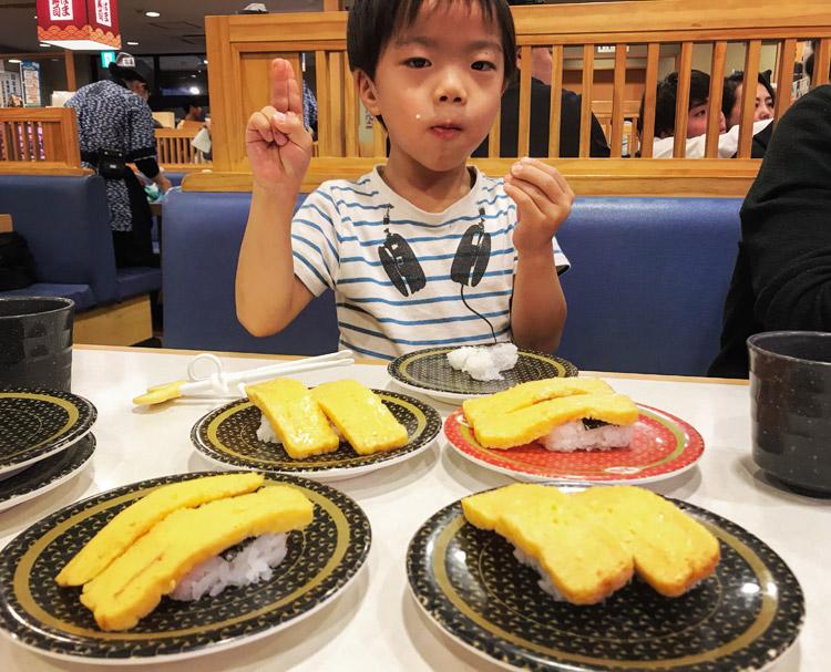 はま寿司で玉子しか食べない叶大