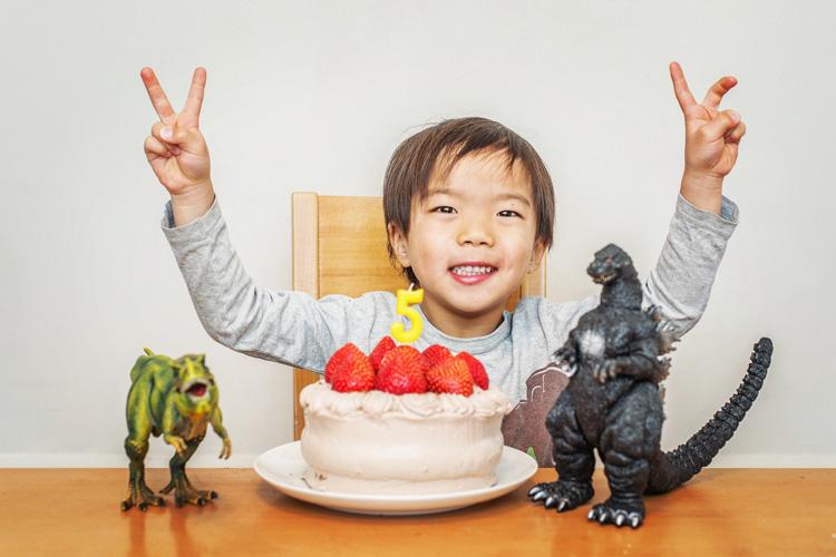 誕生日 バースデーケーキ 5歳になった叶大