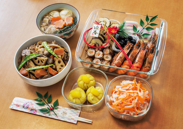 正月 元日 奥さんお手製のお節料理