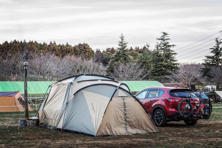 成田ゆめ牧場 成田ゆめファミリーオートキャンプ場 冬キャンプ