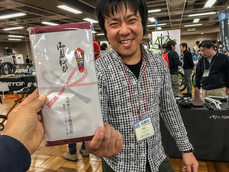 第三回サイクルパーツ合同展示会 東京サンエス 辻浦さん