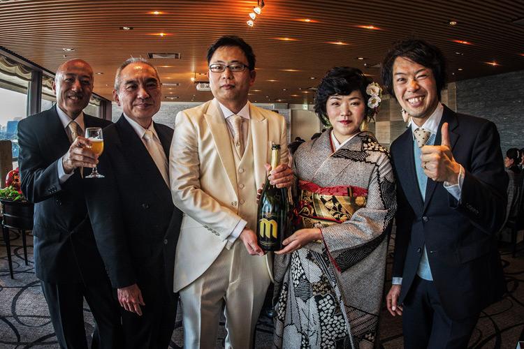 水野君 ハルオ の結婚式でした 公園トライアル ミナミさん 岡安製作所 岡安さん