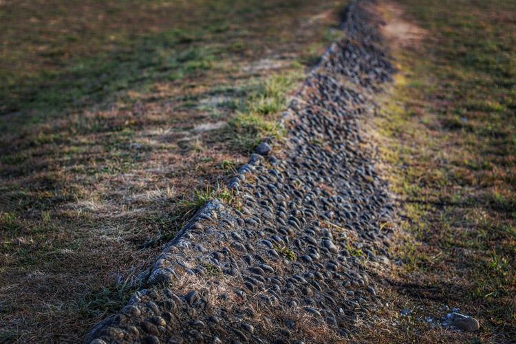 多摩川河原 ダートコース 小石バンク