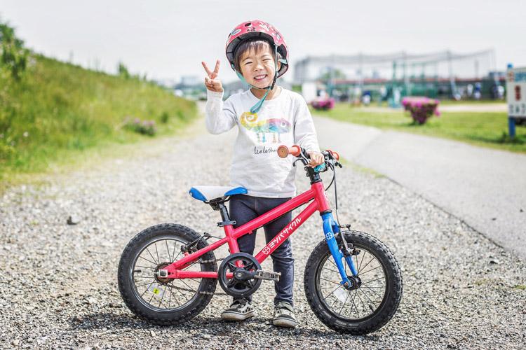 多摩川河原 ダートコース ヨツバサイクル YOTSUBA14