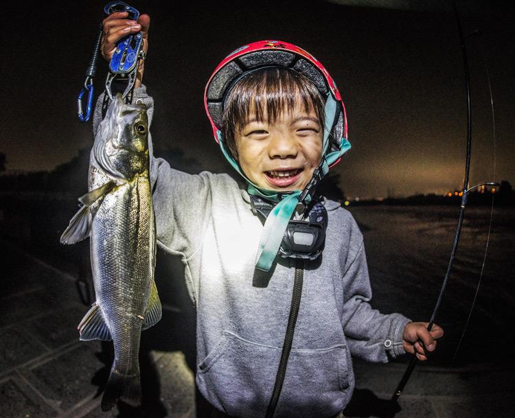 多摩川河原 シーバスを釣った叶大