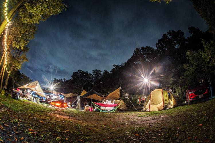 長瀞オートキャンプ場 夜景