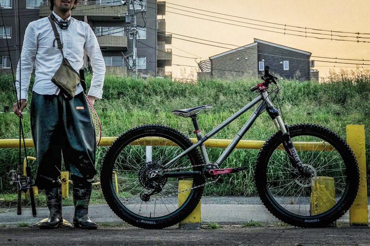 朝活BIKE&FISH 多摩川河原 croMOZU275