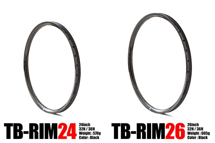 TUBAGRAオリジナルリム TB-RIM24 TB-RIM26