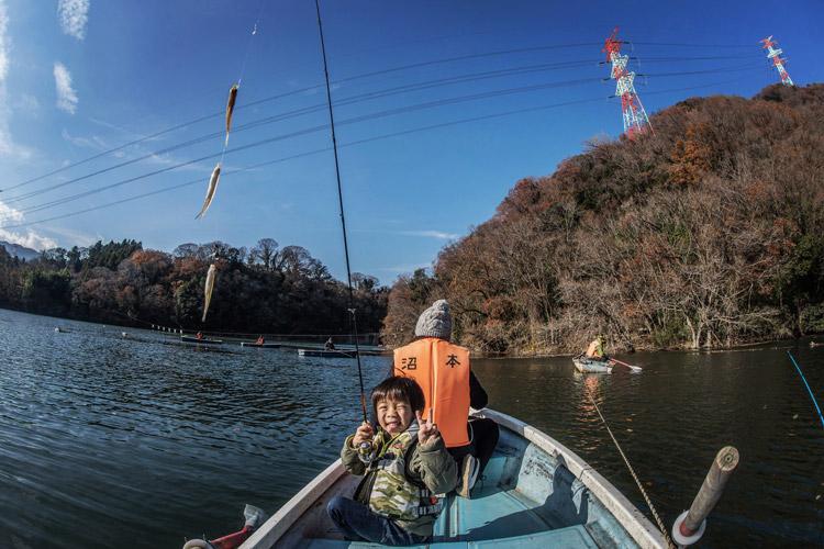 青野原オートキャンプ場 津久井湖 沼本ボート ワカサギ釣り 叶大
