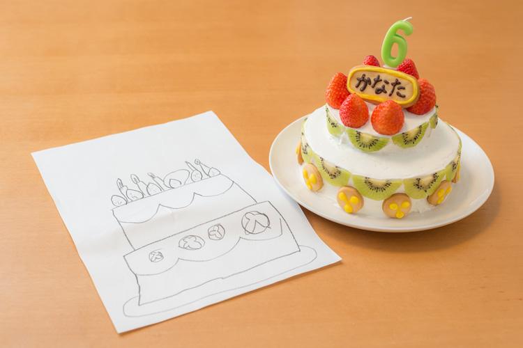 叶大の6歳の誕生日 奥さんが作ったバースデーケーキ