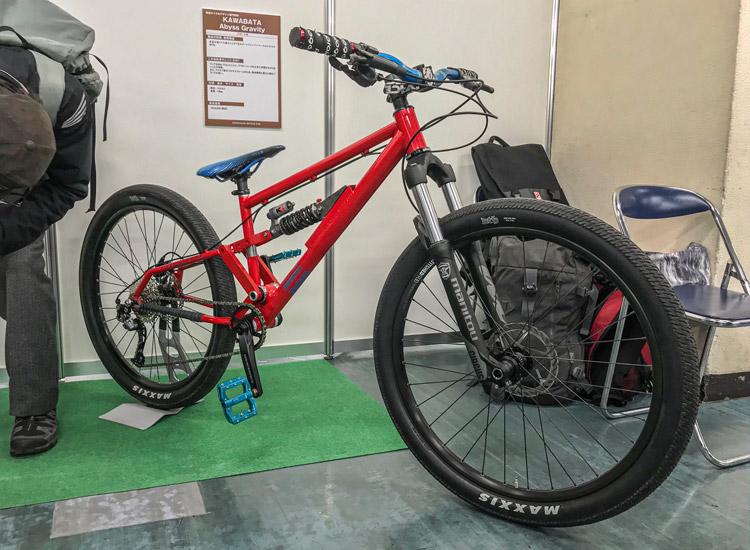 2020ハンドメイドバイシクル展 科学技術館 東京サイクルデザイン専門学校 フルサスダートジャンプバイク